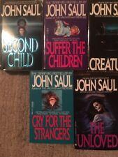 JOHN SAUL HORROR 5 PAPERBACK BOOKS VINTAGE UNLOVED SINNERS ETC-