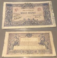 1000 Francs Bleu et Rose Type 1889  - 28/11/1924 J.1789 TB TTB