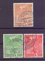 Berlin 1952 - Vor-Olympiade - MiNr. 88/90 rund gestempelt - Michel 45,00 € (016)