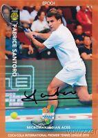 Fabrice Santoro 2015 Epoch IPTL Tennis Silver Foil Facsimile Signature #/20 MINT
