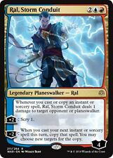 RAL, STORM CONDUIT War of the Spark MTG Gold Planeswalker Rare