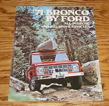1971 Ford Bronco All-Purpose 4-Wheel Drive Foldout Sales Brochure 71
