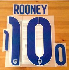 England WORLD CUP 2014 Home Shirt 2014-15 ROONEY#10 SportingiD Name Number Set
