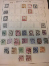 Sammlung Deutsches Reich 1872-1923 gestempelt / ungebraucht 650 Marken (794)