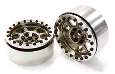 C26569GUN Integy Billet 8 Spoke Off-Road 2.2 Size Wheel(2)for 1/10 Rock Crawler