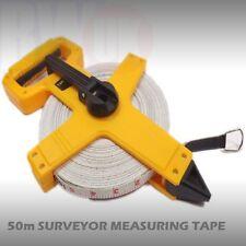 Open Reel Fibreglass Measuring Tape Surveyors 50m Extra Long Reel 50 Meters TY9