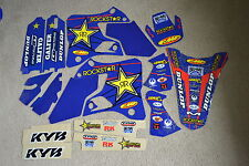 FLU  TEAM  ROCKSTAR  GRAPHICS  & WHT BACKGROUNDS  1996-2001 YAMAHA YZ125 YZ250