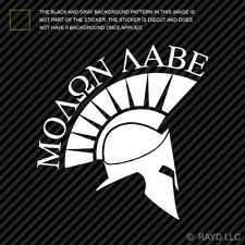 (2x) Molon Labe Sticker Die Cut Vinyl Decal come and take them 300 spartans #4