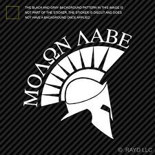 (2x) Molon Labe Sticker Die Cut Vinyl Decal come and take them 300 spartans #4