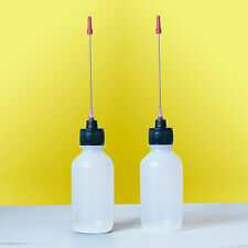 2-2 OZ bottles with stainless needle tip for Oiling Conventional Reels