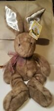 E & J Prima plush  Bunny Rabbit Satin Ears New  with tags