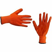 New Safety Work Gloves Latex Coated Liner Non Slip Grip Builders Repair Size M