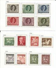 Germany 1943  Hitler Birthday Rosegger Winter Braune Vienna Gold  Used 14 Values