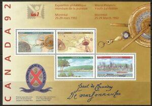 Canada #1407ai MNH S/S CV$125.00 1992 Expo Montréal Map Cartier Signature