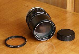 Minolta MC Tele Rokkor PF 135mm F2.8 Lens v. good condition- w/ Hood