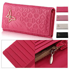 Lady butterfly PU Leather Long Purse Wallet Clutch Zip Bag Card Holder_KB