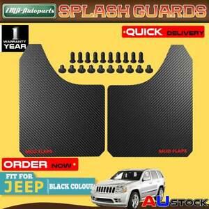 2x Black Front Rear Universal Splash Guards Mud Flaps for Jeep Cherokee Wrangler