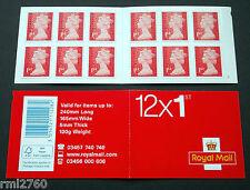 2014 M14L + MTIL 12 x 1st Class Booklet - NEW W7 CYLINDER (was W5)
