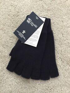 Ladies Cashmere fingerless gloves - Black