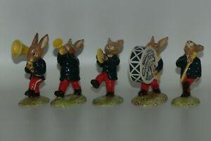 DB105 to DB109 Royal Doulton Bunnykins Green Oompah Collectors Band set