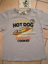 "(c133) Geelong Boys look vissuto T-shirt con ""Hot Dog"" pressione sul petto gr.104"