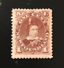 Stamps Canada Newfoundland Sc41 1c violet brown Prince of Wales-See description