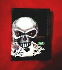 NUOVA Linea Uomo Ragazzi Nero teschio ossa incrociate Tri-fold Portafoglio con Catena Clip Pirata