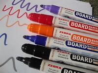 Zebra Large Whiteboard Dry Wipe Marker Pens Bullet Tip