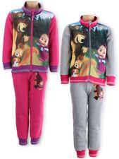 Girls Masha and Bear Tracksuit Jogging Set OFFICIAL Merchandising