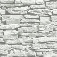 MAROCAIN MUR BLANC ARDOISE PAPIER PEINT - ARTHOUSE 623009 - BRIQUES DÉCOR