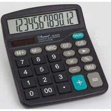 Calcolatrice Elettronica Digitale Hlw-6905 12 Cifre Solare Display linq