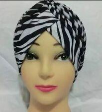 Zebra Print Ladies Turban Hat Chemo ,Hat,Bandana,Scarf