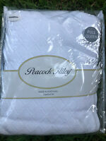 PEACOCK ALLEY Queen Coverlet Pillow Shams Set  BLANKET Matelasse Cotton White