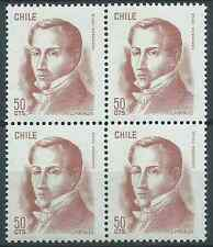 CHILE 1975 Sc.480 Diego Portales Minister 50c block of MNH