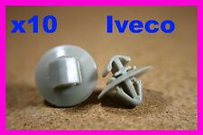 10 Iveco door card fascia trim panel exterior moulding fastener clips