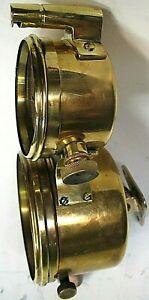 WARNER AUTO-METER BRASS SPEEDOMETER WITH CLOCK PIERCE ARROW LOCOMOBILE
