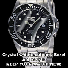 For Invicta Pro Dive HD Clear Crystal Protect anti-scratch DateWindow, Bezel!!