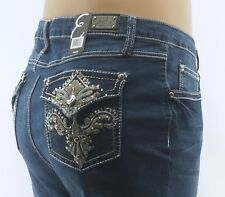 Earl Straight Leg Jeans Size 20W Embellished Blue Denim