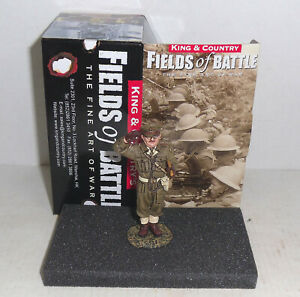 King & Country FOB082 Fields of Battle - British 'The Captain' (retired) - NIB