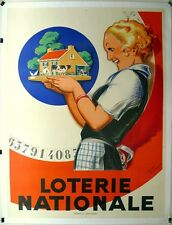 Loterie Nationale by Rene Vincent guaranteed ORIGINAL  prof'l linen mounted