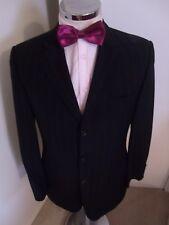 "HUGO BOSS Flynn/Vegas Men's Black Pinstripe Suit Jacket C38"" Italian Wool Cloth"