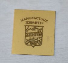 Antique Collectible Brass ZENITH Manufacture 1865 Watch Company Sign Logo Plaque