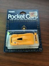 Vintage Tomy Pocket Cars yellow Cibie Harada Collection Unused on Card