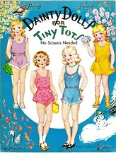 Vintage Uncut 1946 Dainty Dolls For Tiny Tots Paper Dolls~#1 Reproduction~Rare!