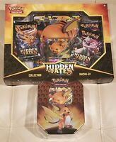 Pokemon TCG Hidden Fates Tins Tin Box Set of Both Raichu NEW SEALED LOT OF 2