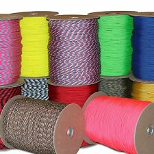 Wholesale Parachute Cord 550 Paracord 7 strand core 1000 ft 100 ft 50 ft 10 ft
