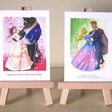 2 ACEO art cards Princess Aurora Beauty and the Beast Weddings n Romance set