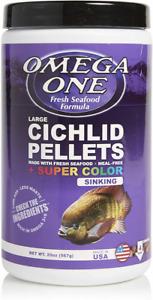 Omega One Super Color Sinking Cichlid Pellets, 4mm 1.25 Pound (Pack of 1)