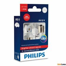 P21W PHILIPS X-treme Ultinon LED BA15s signalling Lamp Red 12898RX2 Twin Pack