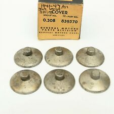 41-47 Chevy 6-cylinder Inlet Intake Valve Stem Covers [6] GM 839570 NOS